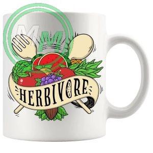 herbivore novelty vegan gift mug