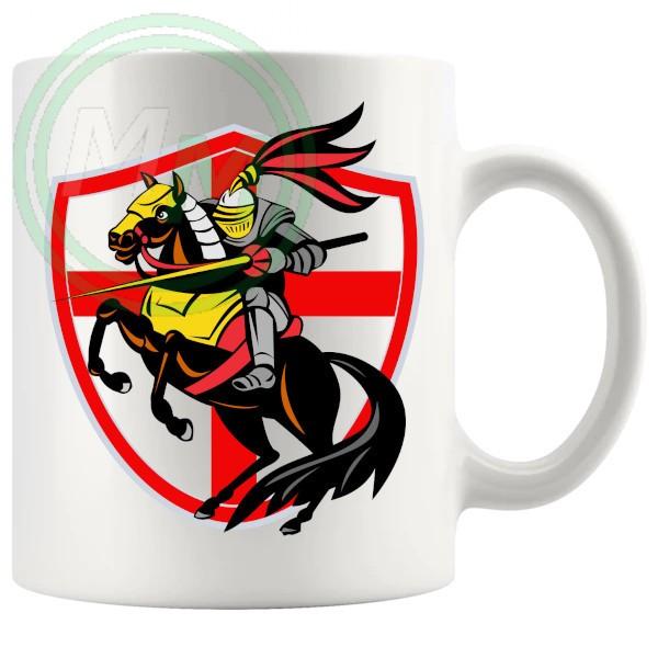 knight on shield