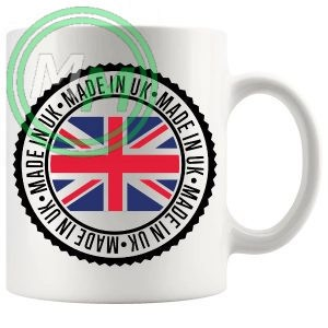 made in the UK novelty gift mug