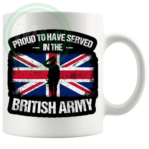 proud to have served in the British army