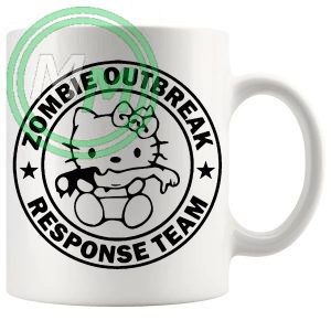 hello zombie outbreak kitty mug