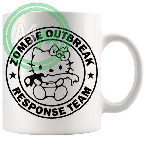 zombie outbreak kitty mug