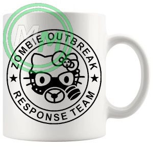 zombie outbreak mug in black