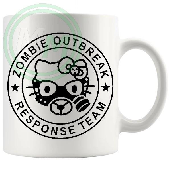 zombie outbreak mug in black