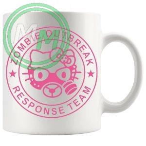 zombie outbreak mug in pink