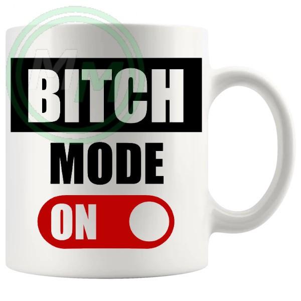Bitch Mode On Mug in Red