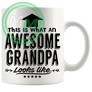 awesome grandpa in black mug