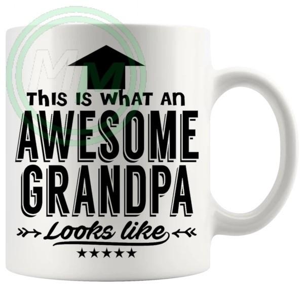 awesome grandpa in black mug