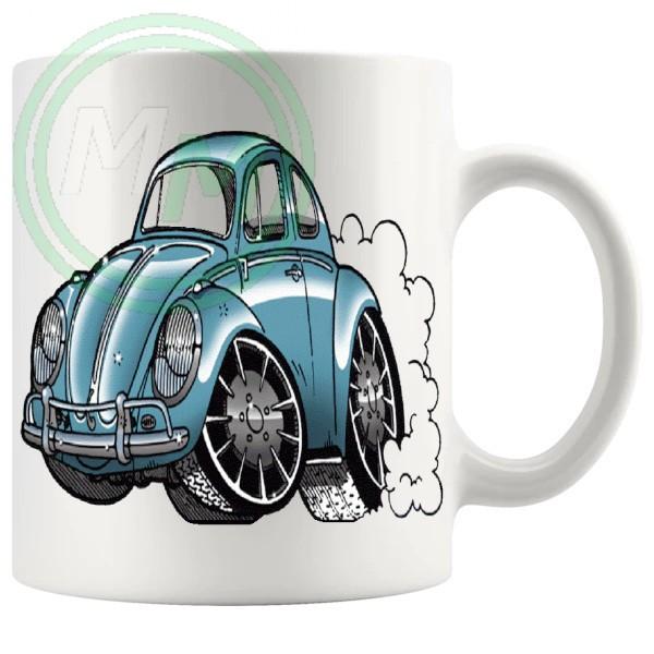 beetle mug blue