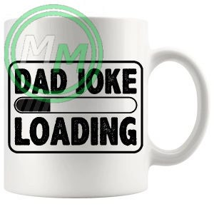 dad joke loading mug black