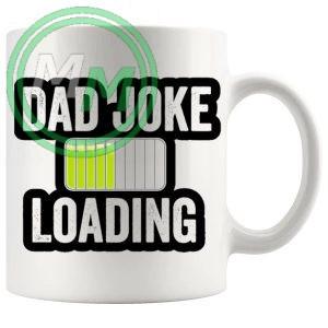 dad joke loading mug yellow