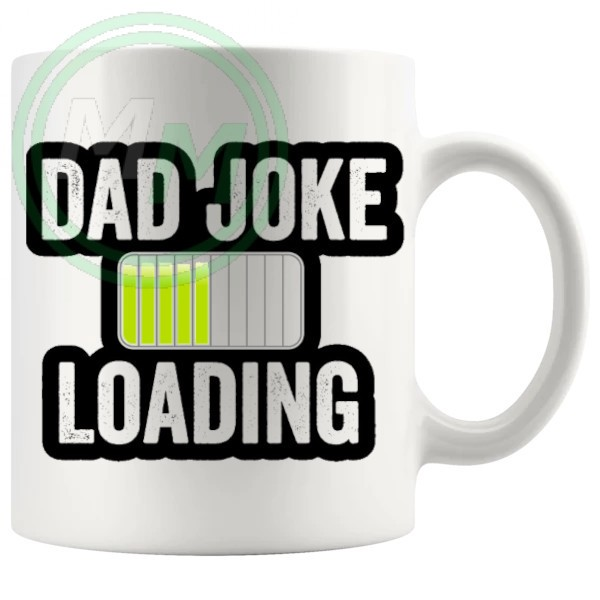 dad joke loading mug yellow