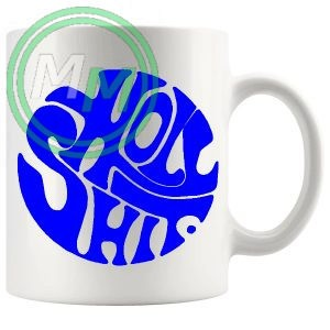 holy shit mug blue
