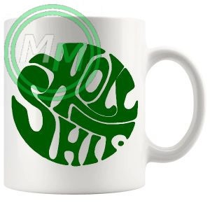 holy shit mug green
