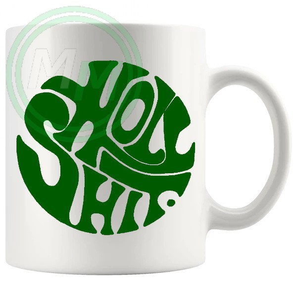 holy shit mug green