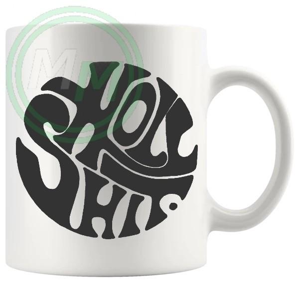 holy shit mug grey