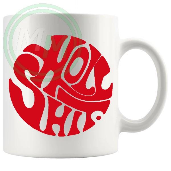holy shit mug red