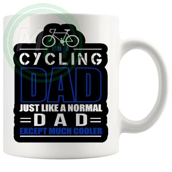 im a cycling dad blue