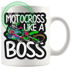 motocross like a boss mug