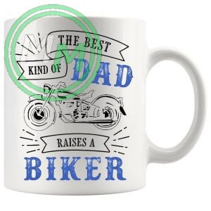 the best kind of dad raises a biker mug