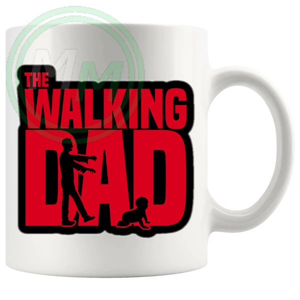 the walking dad mug
