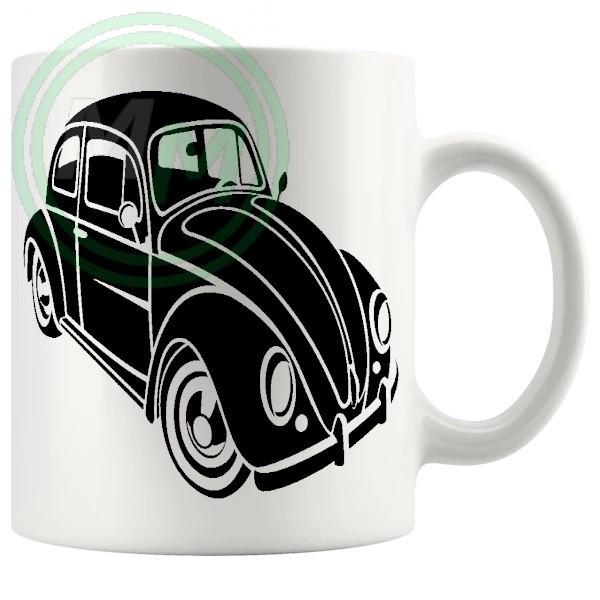 vw beetle mug black