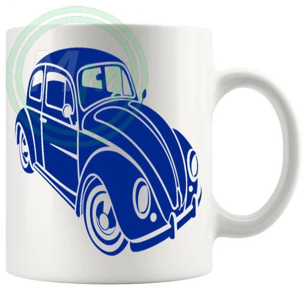 vw beetle mug blue