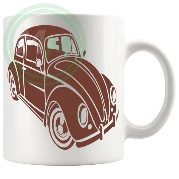 vw beetle mug brown