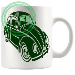 vw beetle mug green