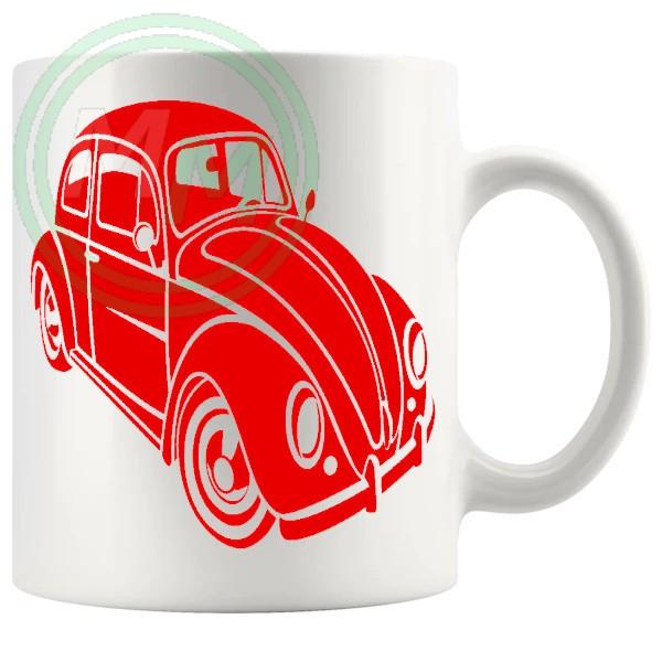 vw beetle mug red
