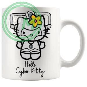 Hello Cyber Kitty Mug