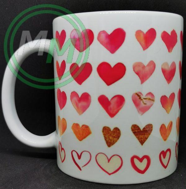 Hearts Pattern Mug Style 1 Pic 1