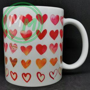 Hearts Pattern Mug Style 1 Pic 2