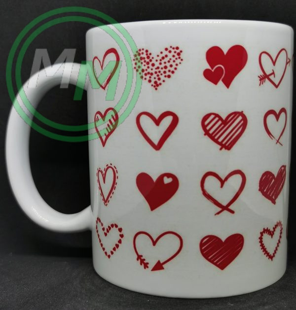 Hearts Pattern Mug Style 10 Pic 1