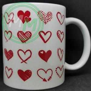 Hearts Pattern Mug Style 10 Pic 2