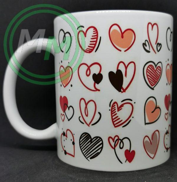 Hearts Pattern Mug Style 11 Pic 1