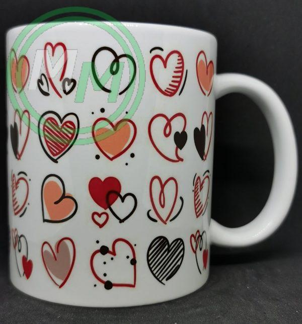 Hearts Pattern Mug Style 11 Pic 2