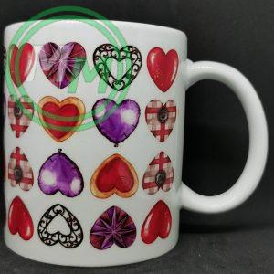 Hearts Pattern Mug Style 2 Pic 2