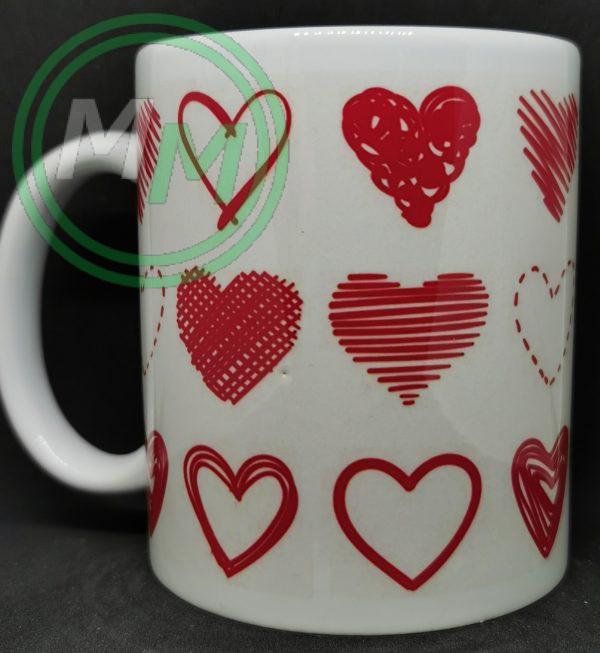 Hearts Pattern Mug Style 3 Pic 1