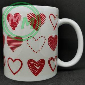 Hearts Pattern Mug Style 3 Pic 2