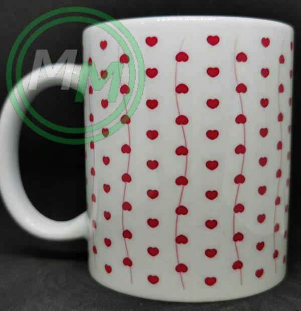 Hearts Pattern Mug Style 4 Pic 1