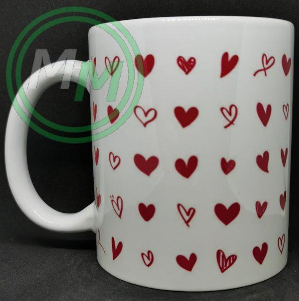 Hearts Pattern Mug Style 5 Pic 1