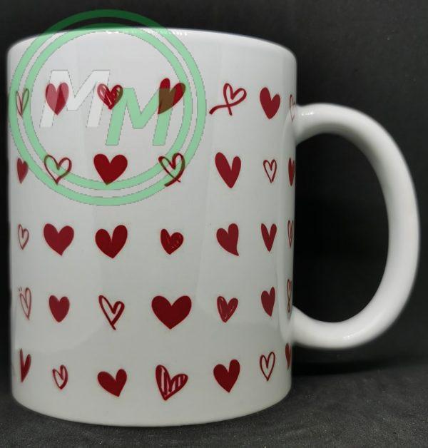 Hearts Pattern Mug Style 5 Pic 2