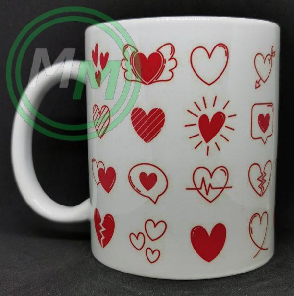 Hearts Pattern Mug Style 6 Pic 1