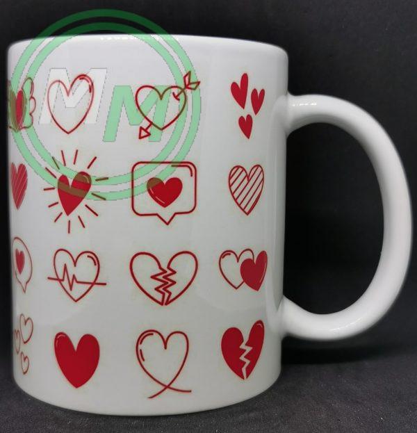 Hearts Pattern Mug Style 6 Pic 2