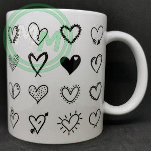 Hearts Pattern Mug Style 7 Pic 1
