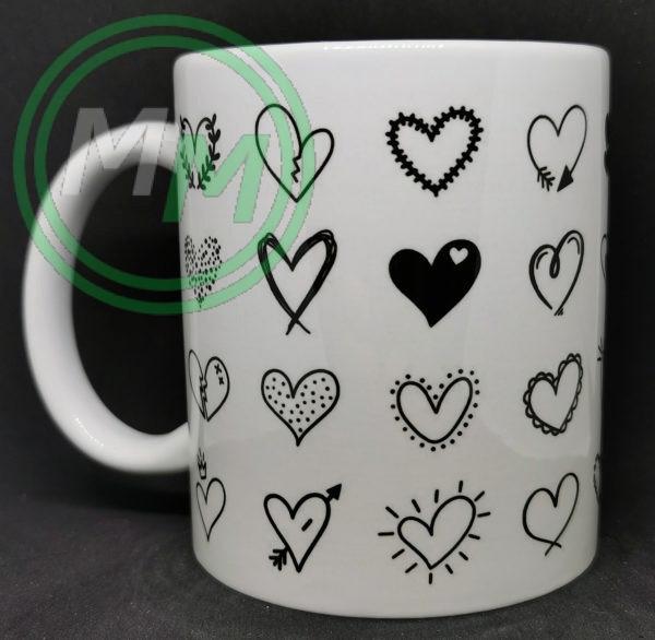 Hearts Pattern Mug Style 7 Pic 2