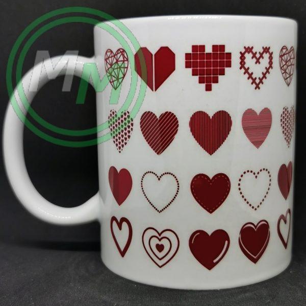 Hearts Pattern Mug Style 8 Pic 1