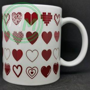 Hearts Pattern Mug Style 8 Pic 2