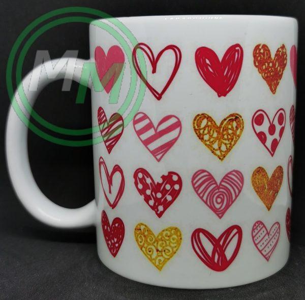 Hearts Pattern Mug Style 9 Pic 1